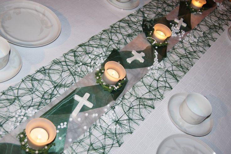 Tischdekoration Konfirmation Kreuz