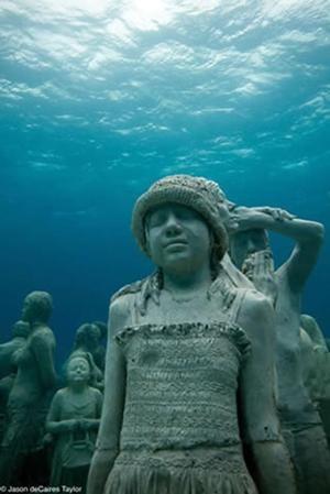 Best Underwater Sculpture Images On Pinterest Underwater - Europes first ever underwater museum is full of hyperrealistic human sculptures