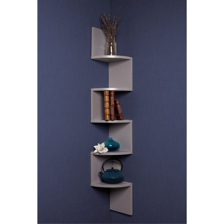 Danya B Large Laminated Corner Wall Mount Shelf Xf11035