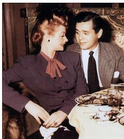 Lucy & Desi - 1940's    They are so young and so sweet!  Yes there are tears in my eyes!