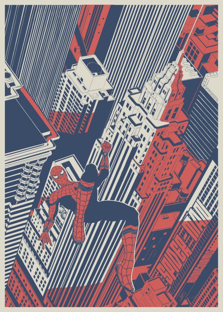 Spider-Man: Homecoming fan art by Simon Delart
