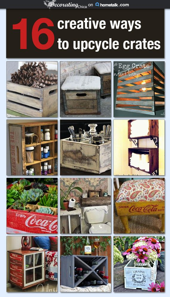 379 best images about things to make with wood on pinterest for Creative crates