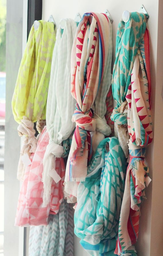 Printed Scarves, to punch up plain tees and tanks in the spring/summer!