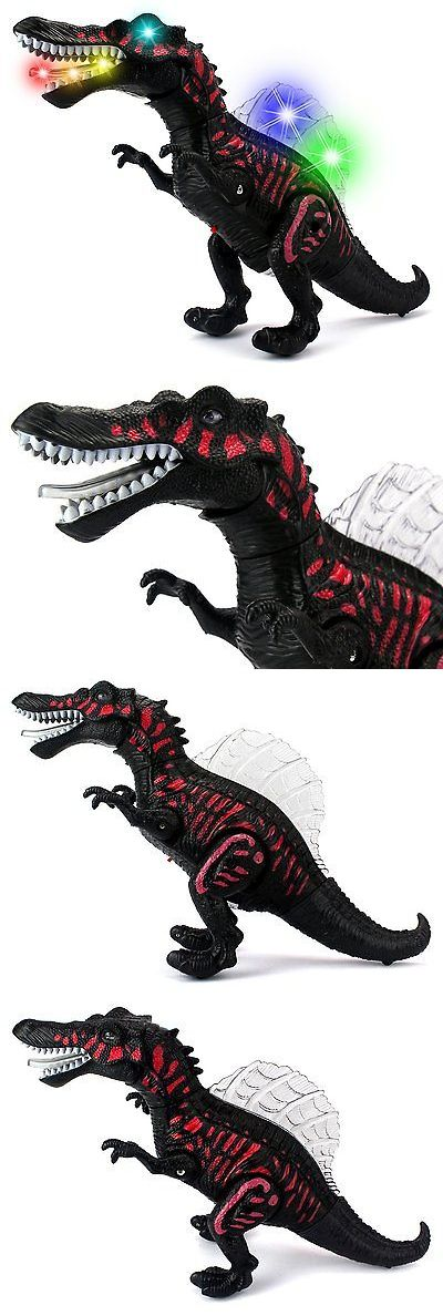 Dinosaurs 19170: Dino Valley Spinosaurus Battery Operated Walking Toy Dinosaur Figure W Lights -> BUY IT NOW ONLY: $33.88 on eBay!
