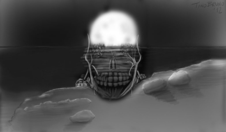 it's a skull, it's a sun, it's the sea, it's the moon, it's nothing.
