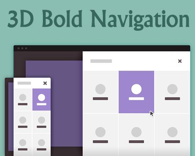 3D Bold Navigation with CSS and jQuery #3D #navigation #CSS3 #Tutorial #jQuery #transformation #css