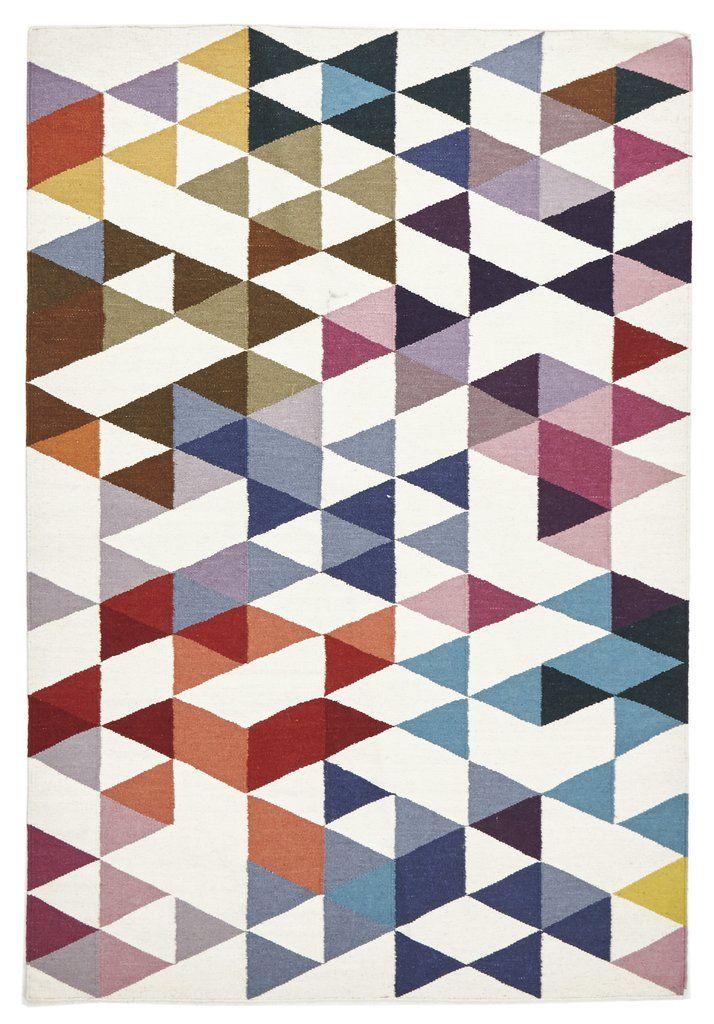 Geometric Flatweave Kilim Rug