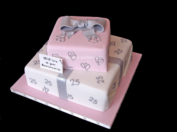 Anniversaries Cake - A cake for my dad's 5th wedding anniversary + 25 years of being 'an item' with his wife...
