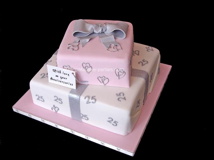 Twenty Fifth Wedding Anniversary Gifts: 17 Best Ideas About 25th Wedding Anniversary Cakes On