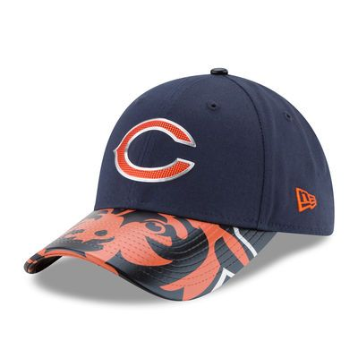 Chicago Bears New Era Women's 2017 NFL Draft On Stage 9FORTY Adjustable Hat - Navy
