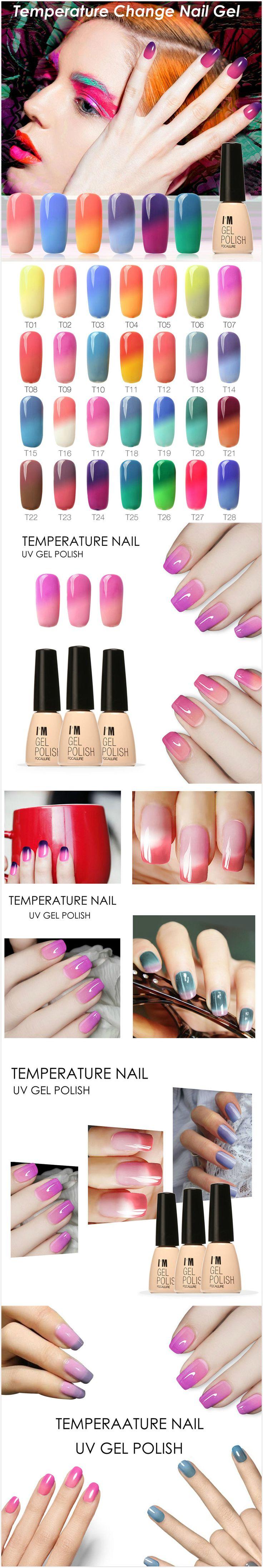 [$ 7.39]   7ml Temperature Color Change UV Gel Polish Nail Art Varnish 30 Colors