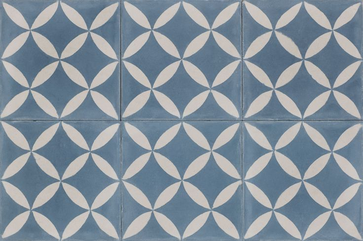 Håndlavede marokkanske cementfliser og tæpper