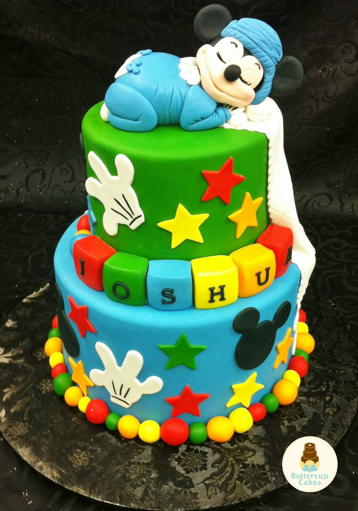 Mickey Mouse Birthday Cake Cartoon Character Cakes In 2019