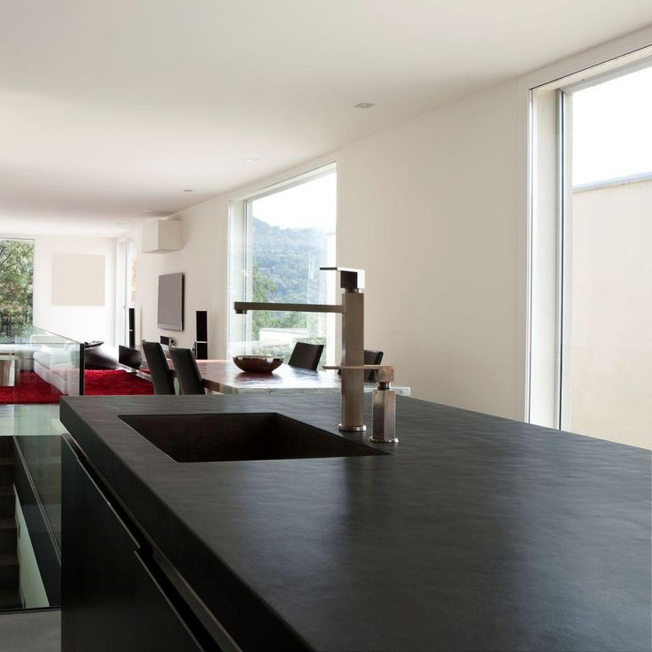 Kitchen Countertops Installation Cost: 4 In. Ultra-Compact Surface Countertop Sample In Sirius