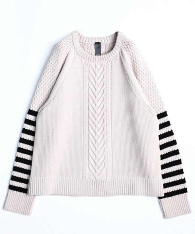 FAVRICA - [SHAREEF] BORDER SLEEVE PULL‐OVER
