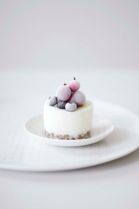mini frozen yoghurt cakes
