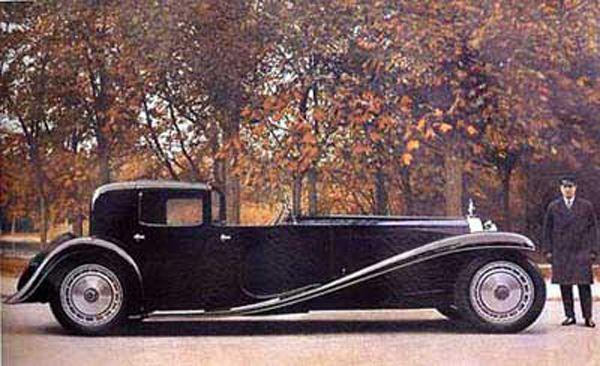 Bugatti et son chauffeur