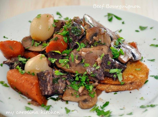 Ina Garten's Beef Bourguignon from My Carolina Kitchen