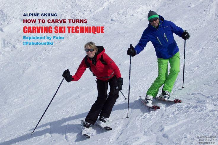 Carving Ski Lesson Part.2: Technique Drills & Skiing Tips @fabulousSki