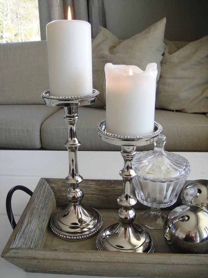 Bland treverk, sølv, bling og glass! Nydelig! Alt dette finnes her www.buadekor.no