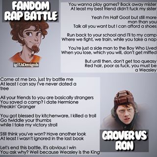 Fandom Rap Battle-Who Won? Who's Next? You Decide!!! XD lol <<I think its a tie. I was rooting for grover, but he isn't really good at rapping. But ron isn't either lol