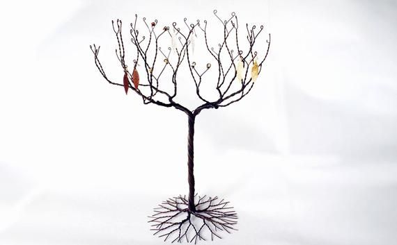Earring Display Jewelry Tree Stand Black Tree Stand Display Necklace Bracelet Ring Stand Wire Tree Sculpture Stand Holder 4 Jewelry Tree Stand Earring Display Jewelry Tree