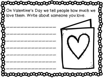valentine's day writing craftivity