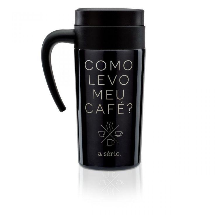 CANECA TERMICA LEVO MEU CAFE - Imaginarium
