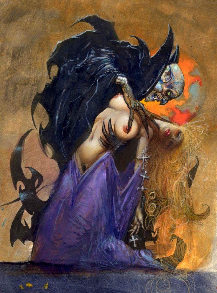 "Over the top si-fi illustrator Simon Bisley ""Nosferatu"" #erotic #illustration"
