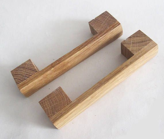 These Handmade Wooden Drawer Pulls Are Made From An Oak Wood The