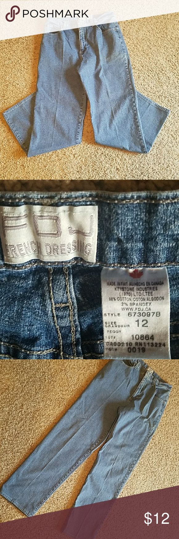 """FOJ French Dressing Jeans Size 12,  good used condition. No holes or tears. Waist 14"""" across Rise 12"""" Inseam 29"""" foj Jeans"""