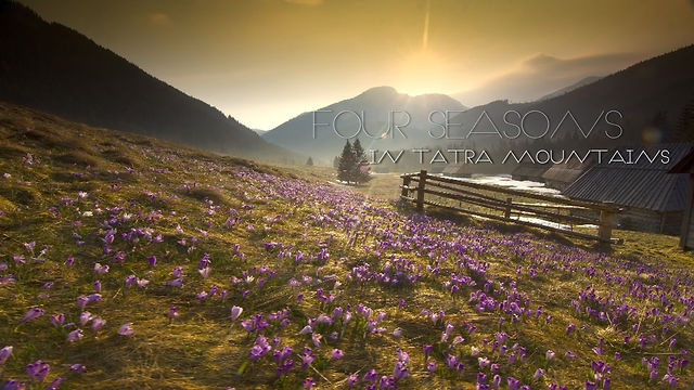 Timelapse 4 seasons in Tatra Mountains  Locations: Polana Chochołowska, Kasprowy Wierch, Gubałwka, Zakopane