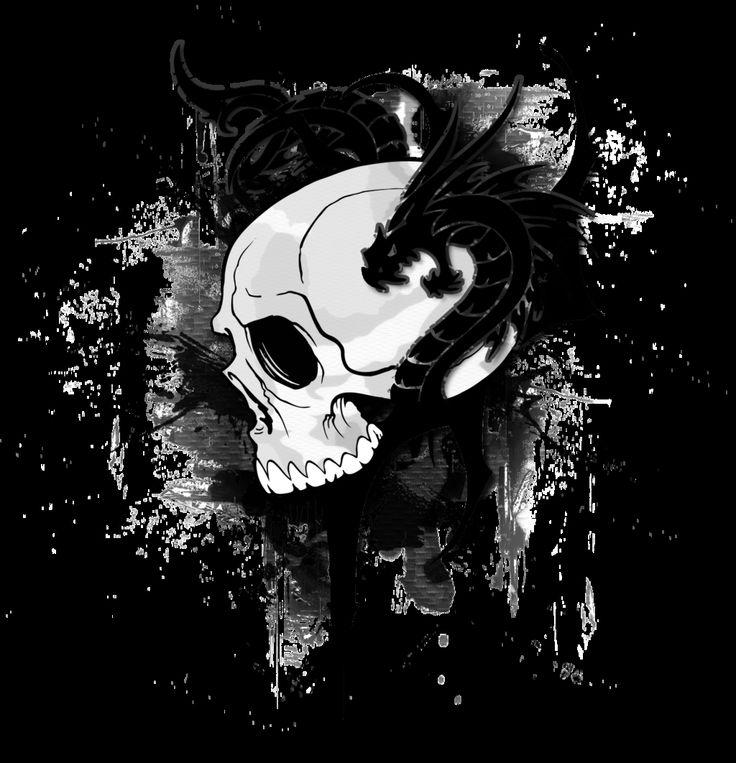 skulls and dragons wallpapers wwwpixsharkcom images