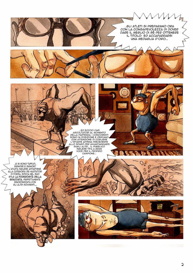 #Old Glories#Swimmer#comics#Oldman#Swimming#2#