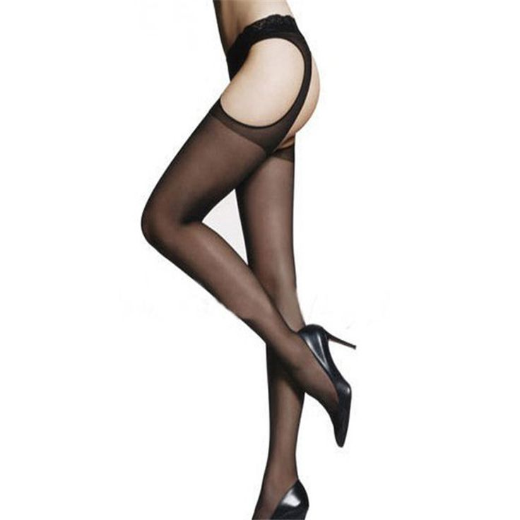 Feitong Sexy Charming Garter Belt Stockings Tights for Women's Perspective Thigh High Pantyhose Black Lingerie Medias Sexy Muslo