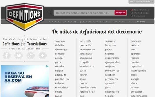 Definitions, conoce el significado y la pronunciación de las palabras con este diccionario para múltiples idiomas