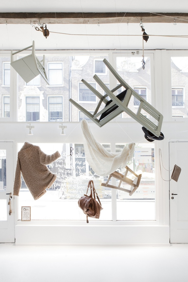 window - Sukha Amsterdam  with Wieber Scarf white   also @ www.zilalila.com