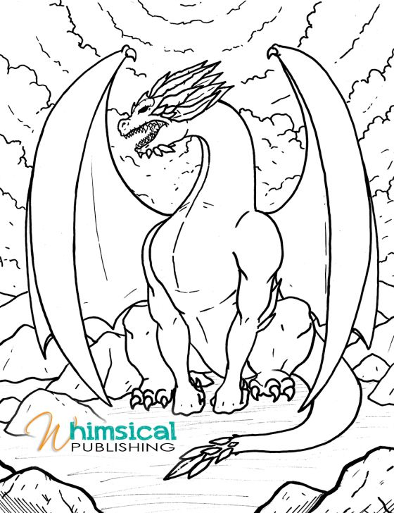 558 best Dragons to Color images
