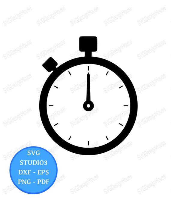 Stopwatch Svg Timer Svg Stopwatch Clipart Dxf Png Eps Cricut Studio3 Cricut Silhouette 0094 Clip Art Svg Dxf