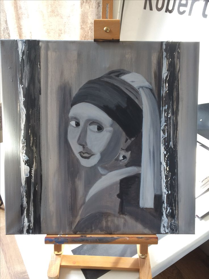 Meisje met de parel, vermeer, in progress