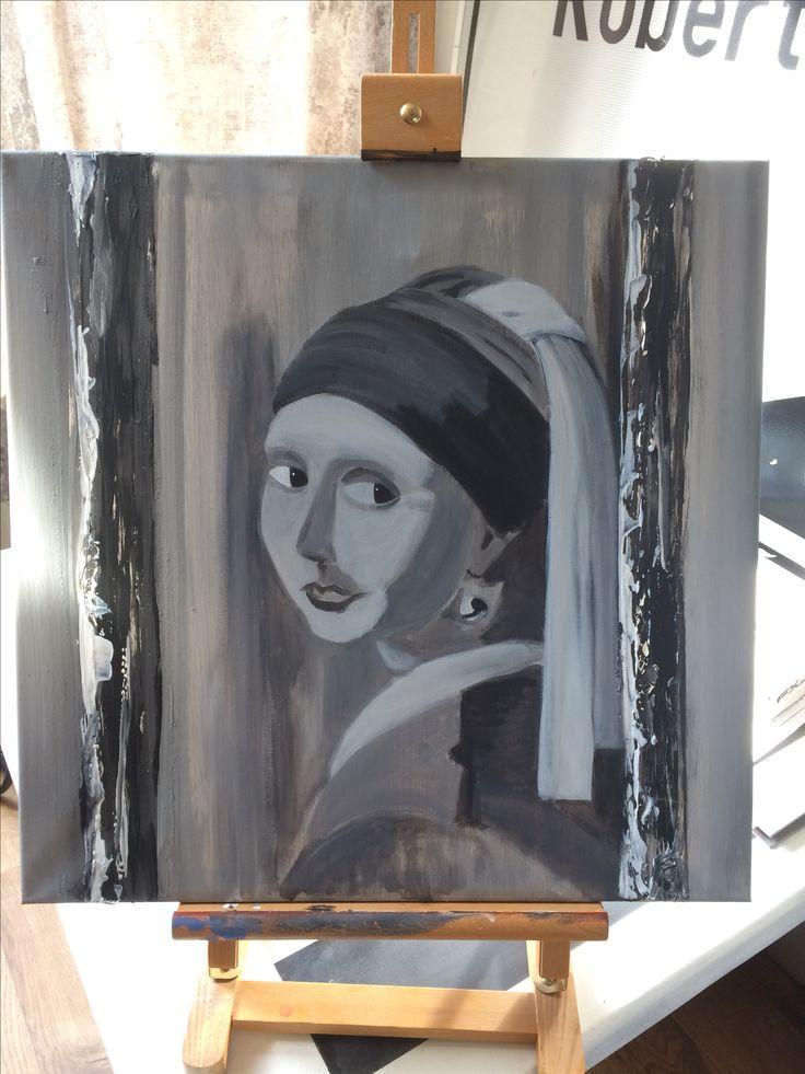 Meisje met de parel, vermeer, in progress