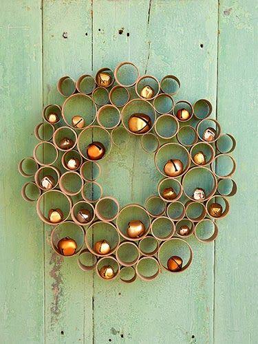 Check out Three DIY Door #Wreath Projects by blogger @Miriam Schulman :: http://schulmanart.blogspot.com/2013/12/diy-wreath.html