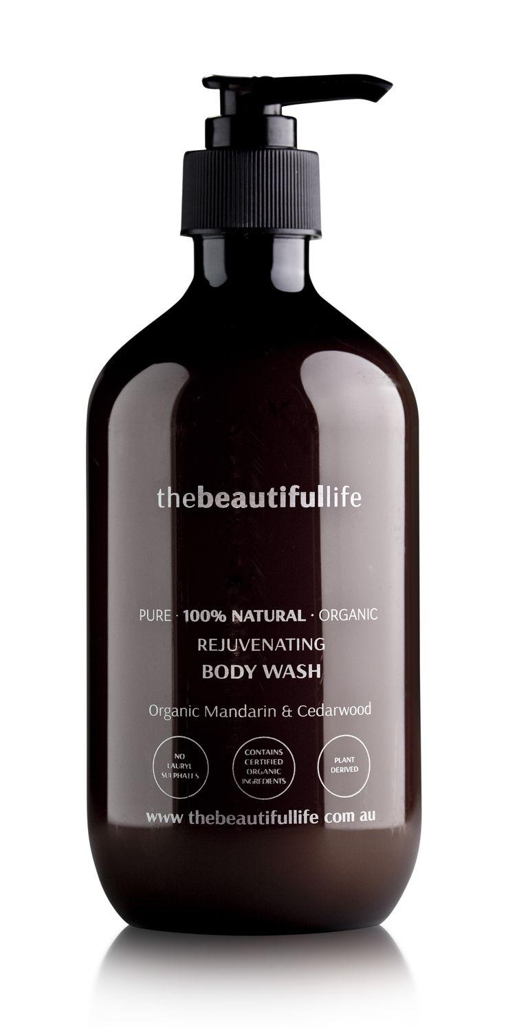Rejuvenating Body Wash with Organic Mandarin & Cedarwood