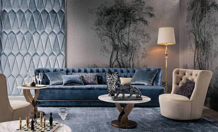 Blue Velvet Sofa Blue Velvet On The Wall Accent Wall Ideas For Living Room Blue Velvet Rug Blue Living Room Accent Walls In Living Room Trendy Living Rooms