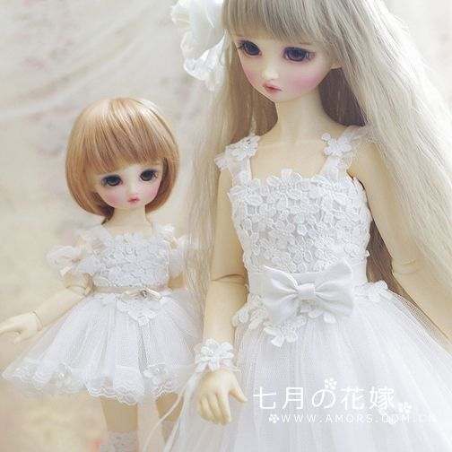 Amors set bjd baby clothes dress tailor wedding dress sd for Baby doll style wedding dress