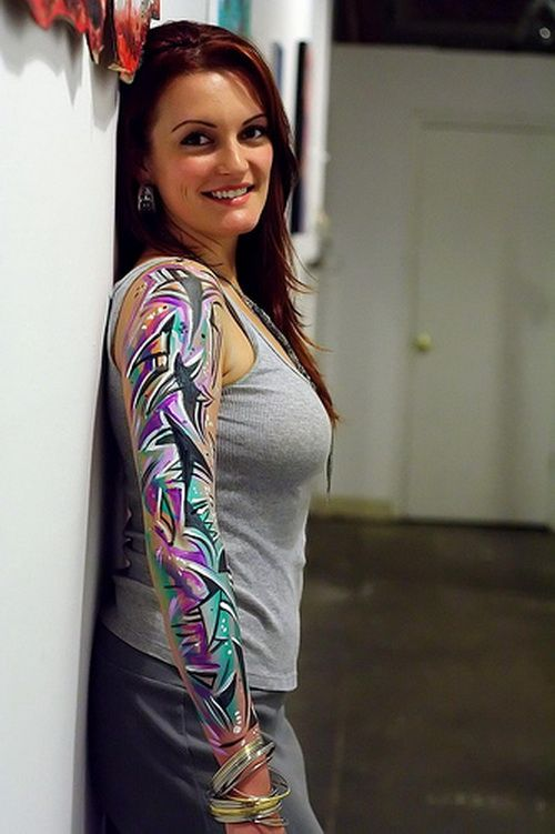 Tribal Wolf Tattoo Designs Half Sleeve | Here are some more sleeve tattoo designs: