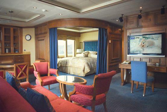 Suite du navire Sea Spirit de Poséidon - croisière de luxe en Antarctique