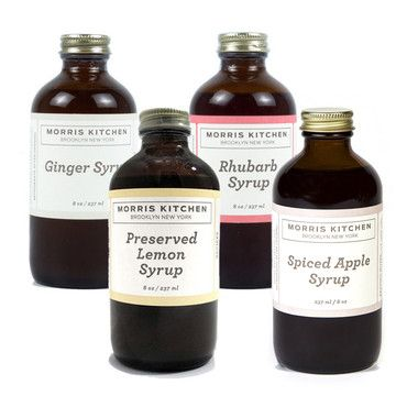 Morris Kitchen: Cocktail Syrup Variety 4 Pack, at 13% off!