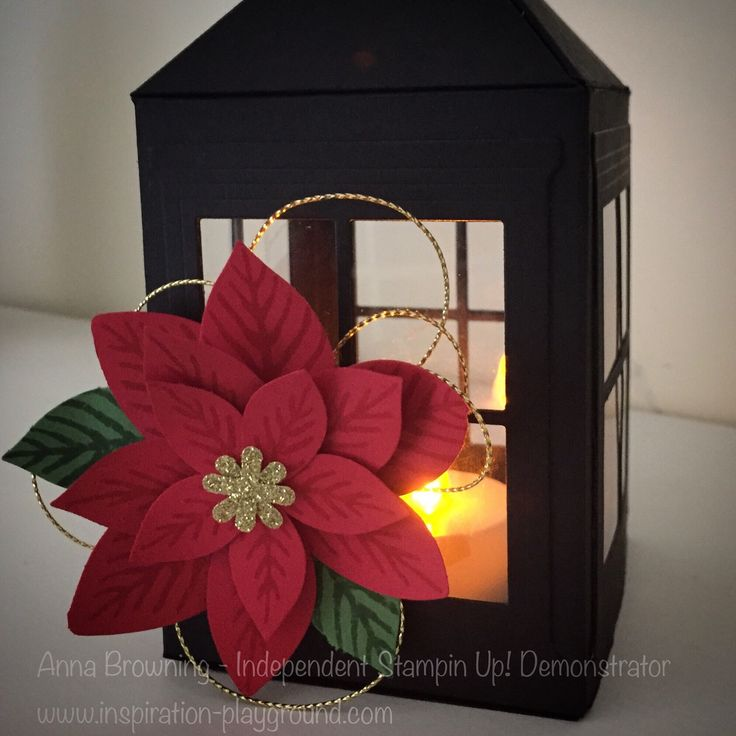 So, I created and posted last week a Vintage Inspired Lantern that I created. Here is my Christmas version using the new Hearth and Home Thinlits and the Poinsettia Punch. I have created a YouTube ...