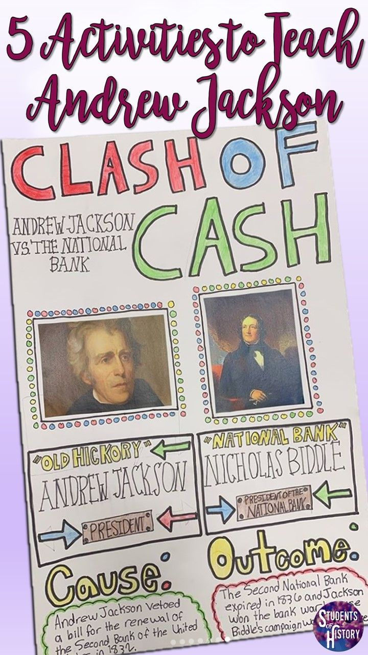 5 Fun Activities to Teach About Andrew Jackson!   Middle school history [ 1280 x 720 Pixel ]